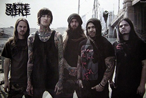 Suicide Silence the American Deathcore Band Group#4 Music Photo Print Poster Size 24 x35