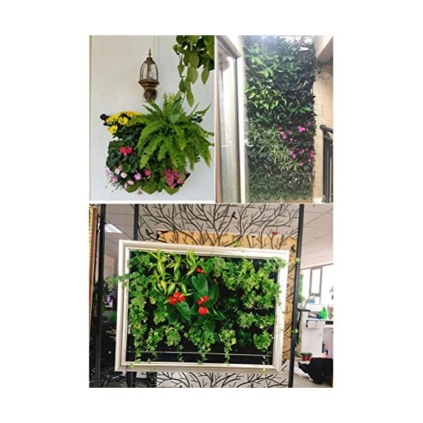 Stylelove Sacco per Piantare Appeso A Parete, 18 Tasche Verde Fioriera per Piantare Fioriera Verticale Giardino Orto… 5 spesavip