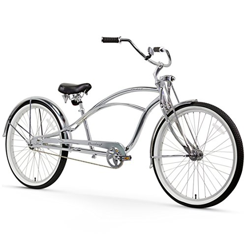 Firmstrong Urban Man Deluxe Single Speed Stretch Beach Cruiser Bicycle, 26-Inch, Chrome For Sale