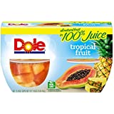 Dole Bowls, Tropical Fruit in 100% Juice, 4 Ounce (Pack of 4)