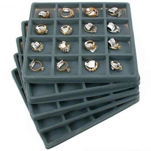 5-gray-16-slot-1-2-size-jewelry-display-tray-inserts-new-by-findingking