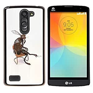 YiPhone /// Prima de resorte delgada de la cubierta del caso de Shell Armor - Conejo Orejas Largas Naturaleza moderna del arte del amor - LG L Prime D337 / L Bello D337