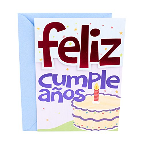 Hallmark Vida Spanish Birthday Greeting Card (Cake & Icons)