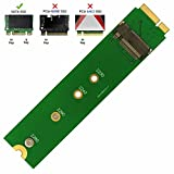 QNINE M.2 NGFF SATA to A1465 A1466 (2012 Year ONLY) Adapter for MacBook Air SSD Replacement, HDD Hard Disk Drive Converter Card Support 2230 2242 2260 2280 SSD