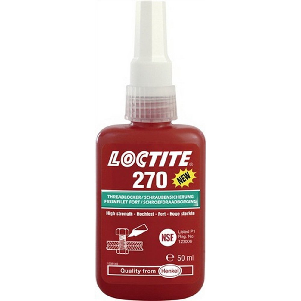 Loctite 1335897 Tube de Remplissage Freinfilet 270, 50 ML Henkel AG & Co.KGaA