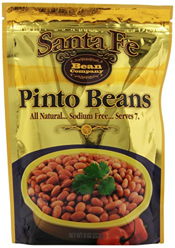 Santa Fe Bean Company Pinto Beans 8-Ounce Pouch (Pack of 8) Instant Pinto Beans; All Natural, High in Fiber; A Great Source of Protein; Fat-Free; Sodium-Free; Gluten-Free