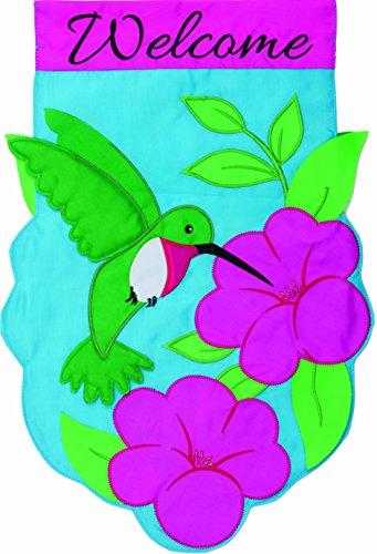 Custom Décor Hummingbird Applique Garden Flag 2761FM