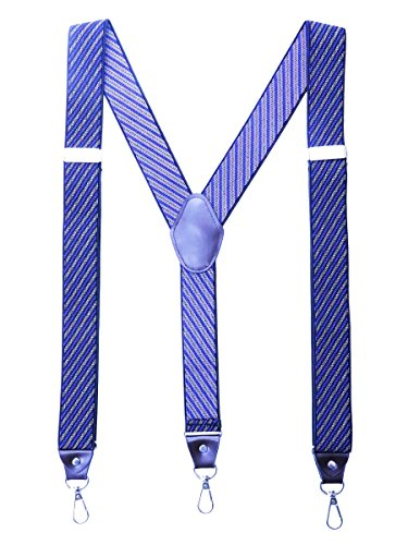 Romanlin Suspenders for Men with Hooks on Belt Loop Big and Tall Adjustable for Groomsmen Braces by Romanlin