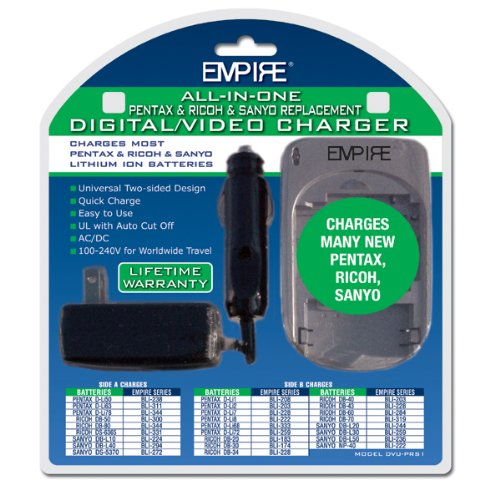 Replacement Charger for Sanyo DB-L90 Video Cameras - Empire Scientific #DVU-PRS1 R1 by Empire Scientific