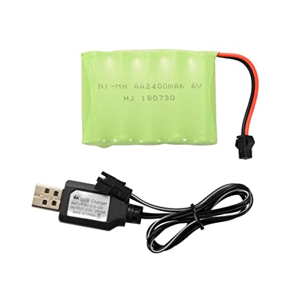 Amazon.com: XCSOURCE AA NI-MH 6.0V/6.0V/7.2V 2400mAh Batería ...