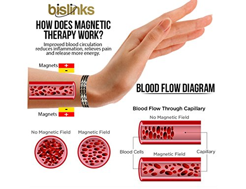 BisLinks® Titanium Magnetic Health Bracelet For Men & Women Germanium Stone Arthritis Chronic Pain Bio Therapy Carpal Tunnel Relief Negative Ion (3000 Gauss Each Magnet) + FREE LINK REMOVAL TOOL by BisLinks® (Image #7)