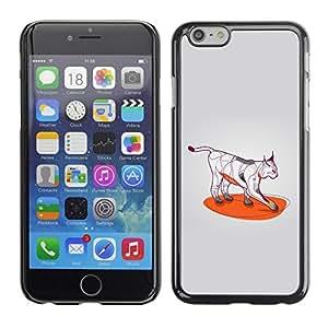 Be Good Phone Accessory // Dura Cáscara cubierta Protectora Caso Carcasa Funda de Protección para Apple Iphone 6 Plus 5.5 // Cat Art Wild Bobcat Color Paws
