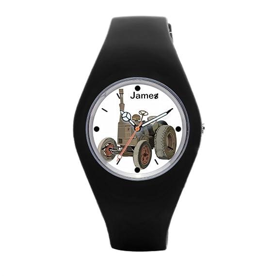 timetoshine goma banda relojes caballo rueda mejor reloj de pulsera para hombres: Amazon.es: Relojes