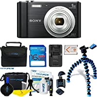 Sony Cyber-shot DSC-W800 Digital Camera (Black) +...