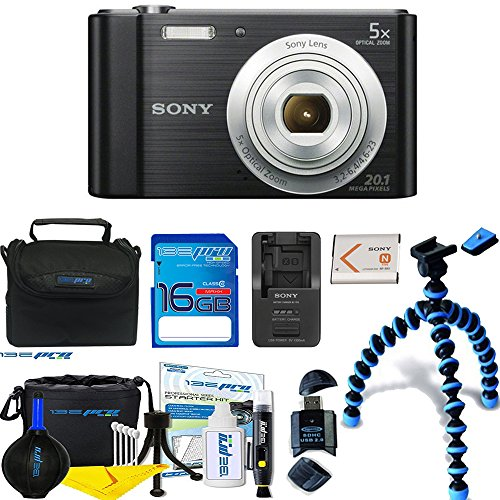 Sony Cyber-shot DSC-W800 Digital Camera (Black) + Deal-Expo Premium Accessories Bundle ()