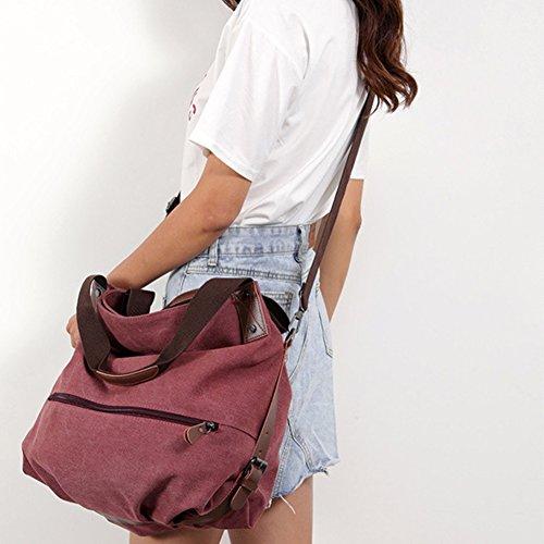 Ladies CJ shoulder handbag canvas Casual Large one female 11 handbag capacity bag slung w8qrxI8t