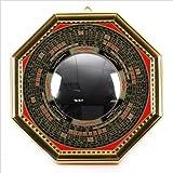 驱除跳ね返し 扩散 . 八卦羅盤凸面鏡金风水用品墙 / 玄关摆件特大 · 大、小小 , 宽 / 高12.2cm