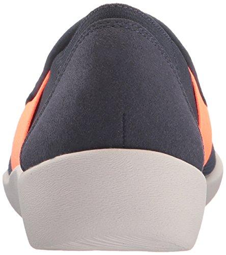 Clarks Delle Donne Tessuto Di Maglia Di Quercia Sillian Loafer Slip-on Navy / Corallo