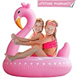 Pool Floats, Flamingo Pool Float Inflatable Tube Float Ring with Rapid Valves Durable Pool Floaties Swimming Water Raft Beach Outerdoor Pool Party Lounge Decorations Toys for kids Girls Women
