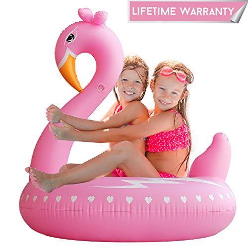Pool Floats, Flamingo Pool Float Inflatable Tube Float Ring Durable Pool Floaties Swimming Water Raft Beach Outerdoor Pool Party Lounge Decorations Toys for Kids Girls Women