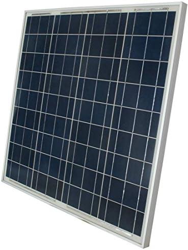 WindyNation 60 Watt 60W Polycrystalline 12V 12 Volt Solar Panel Battery Charger Boat RV Gate Off-Grid