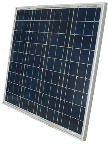 Panel Solar Charger Sol (WindyNation 60 Watt 60W Polycrystalline 12V 12 Volt Solar Panel Battery Charger – Boat RV Gate Off-Grid)