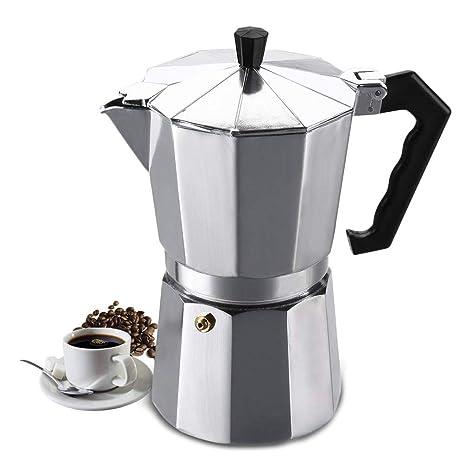 Cafetera eléctrica de café expreso de aluminio, 300 ml/6 tazas ...
