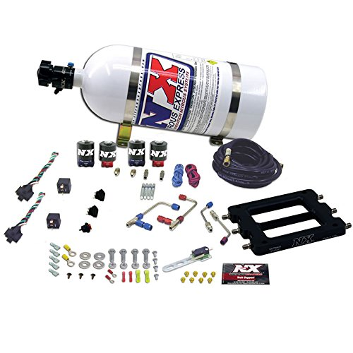 Nitrous Express 66575-15 Dominator 50-300 HP/100-500 HP Dual Stage Shark ProPower Alcohol Plate System with 15 lbs. Bottle