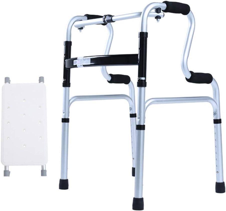ZYL-YL 旧ウォーカー+お座りバスボードウォーカーはありませんホイール旧アルミニウム合金無効ウォーカーノンスリップウォーキングスティックで病院