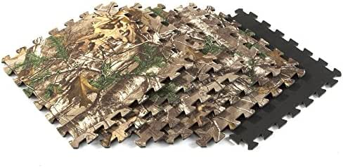 Realtree Camo Fabric Laminate Anti-Fatigue Foam Floor