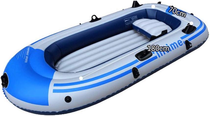 大型インフレータブルボート4ドリフトボートインフレータブルカヤック釣りボートアルミパドル+エアポンプ B