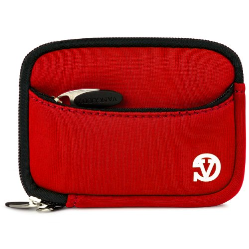 VanGoddy Mini Glove Neoprene Sleeve for Sony Cyber-shot DSC-RX100 IV Digital Cameras + Screen Protector + 4GB Memory Card + Mini HDMI to HDMI Cable (Red)