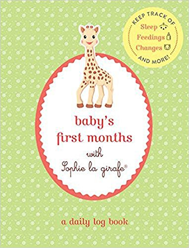 with Sophie la girafe®: A Daily Log Book: Keep Track of Sleep, Feeding, Changes, and More! (Baby Sleep Log)