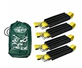 Trac-Grabber - The ''Get Unstuck'' Traction Solution for Cars/Vans/ATV - Emergency Rescue Device, Prevents Slipping in Snow, Sand & Mud - Chain or Snow Tire Alternative (Set of 4 Blocks & Straps)