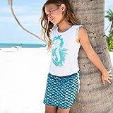 Fin Fun Tidal Teal Mermaid Skorts, Youth M
