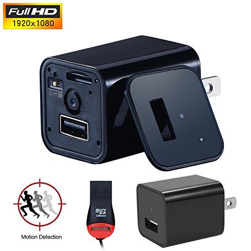 youyoute Upgrade Versión HD 1080P cámara espía Cargador de pared USB Mini US AC adapter Niñera Cam incluidos...