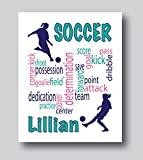 Personalized Soccer Gifts For Girls, Soccer Present for Girls, 8x10 or 11x14 Soccer Print Only, Soccer Decor For Girls Bedroom