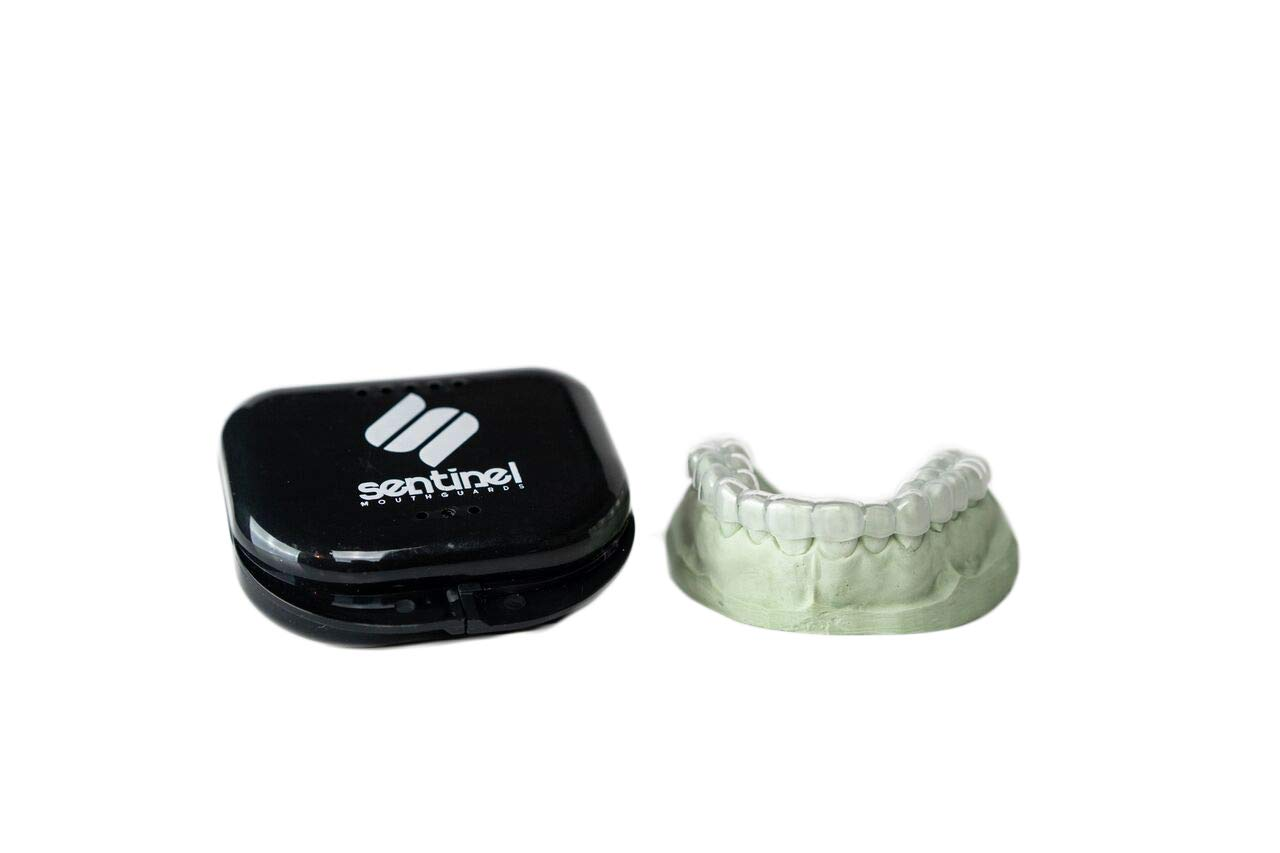 Sentinel Night Guard 2mm Dual Laminated Hybrid (soft inside & hard outside) for Upper Teeth Semi-Flexible Dental Teeth Protector Anti-Grinding (Upper Teeth) by Sentinel Mouthguard