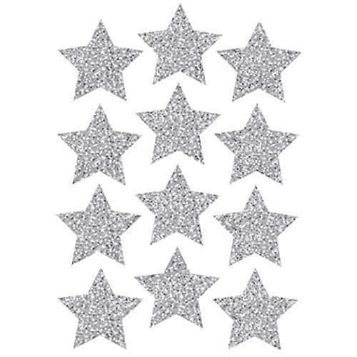 - Ashley Productions Sparkle Stars Die-Cut Magnets, Silver, 3