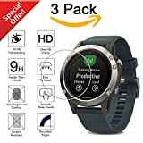 Garmin Fenix 5 Screen Protector [3-Packs], Kimilar Full Coverage Tempered Glass Screen Protector for Garmin Fenix 5, [9H Hardness] [Ultra High Definition] [Crystal Clear] [Scratch Resist] [No-Bubble]