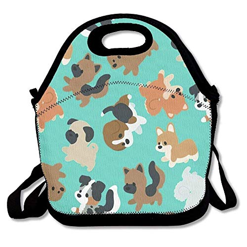 n Lunch Totes Bags Chibi Puppers Awesome Food Storage Bag Lunchbox Personalized Portable Carry ()