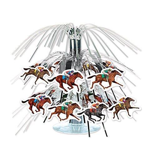 Beistle 59950 Horse Racing Mini Cascade Centerpiece, 7 1/2