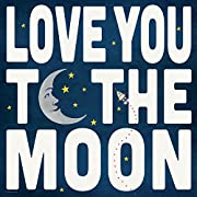 12x12 Love You to the Moon Framed Art Print Bedroom Nursery Outer Space Stars Rocket Ship Kid's Room Wall Decor