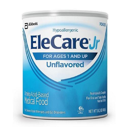 (EleCare Jr Amino Acid Based Medical Food, Ages 1+, Unflavored 14.1 oz (Pack of 4))