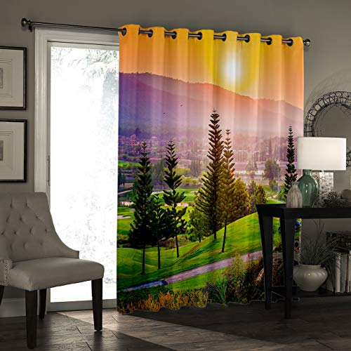 Window Curtain Drapes Treatment Kitchen Blackout Curtains, Curtains and Drapes for Kitchen Cafe Office, Palomino Horse in Sand Desert with Long Blond Male Hair Power Wild Animal, 52''W x 90''L