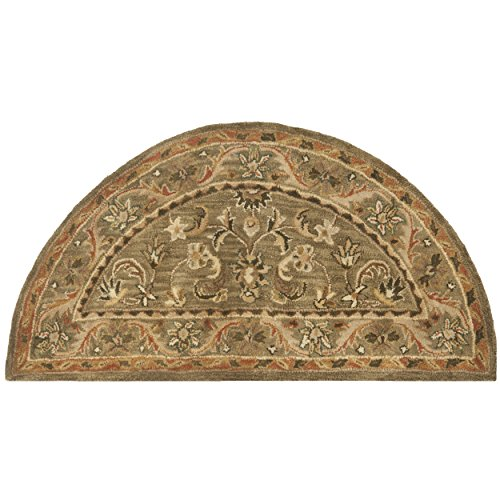 Safavieh Antiquities Collection AT52A Handmade Traditional Oriental Olive and Gold Wool Area Rug (2'6