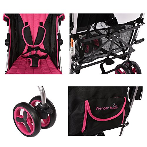 Lightweight Stroller WonderBuggy Baby Stroller Extra Large Canopy with 5-Point Safety System and Multi-Positon ...  sc 1 st  PABooster.com & Lightweight Stroller WonderBuggy Baby Stroller Extra Large Canopy ...