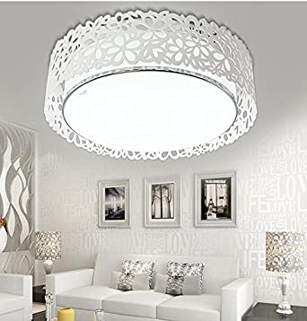 jj moderna lmpara de techo led led acrlico arte lmparas de techo redondo atmsfera de saln
