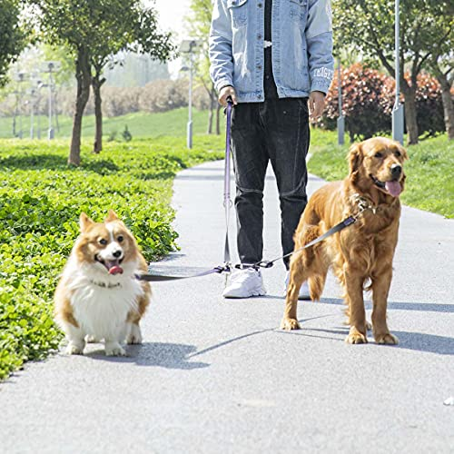Dog Double Leads - Multifunctional Dog Double Leads, Dual Leash for 2 dogs Comfortable Padded Handles for Training&Walking 2 Dogs, Reflective Adjustable Dog Leads for Small Medium Large dogs