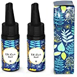 Miraclekoo UV Resin UV Curing Epoxy Resin Hard UV Glue Ultraviolet Curing Solar Cure Resin Sunlight Activated Resin for DIY Jewelry Making Casting & Coating,50g